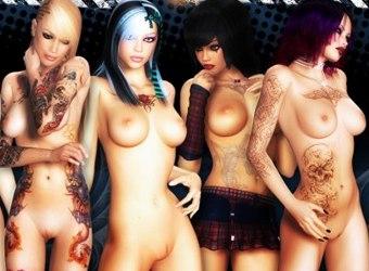 3d mauvaises filles nues et animés photos xxx