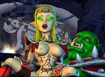 Porno jeu de tir avec la stratégie de guerre des galaxies et le sexe elf