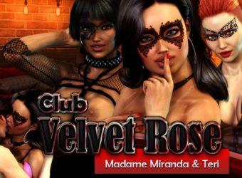 Jeu par navigateur flash porno appelé Club Velvet Rose