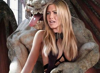 Hollywood monstres avec des célébrités nues baise