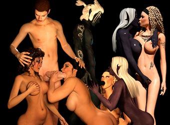 Animations XXX monstre de sexe avec sexy princesse elfe